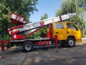 32米云梯車 高空運料云梯車 裝修物料沙石上料云梯車