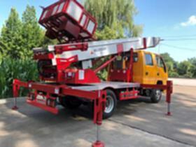 32米升高遙控云梯車 藍牌C1證高空搬家 電力維修 廣告高炮
